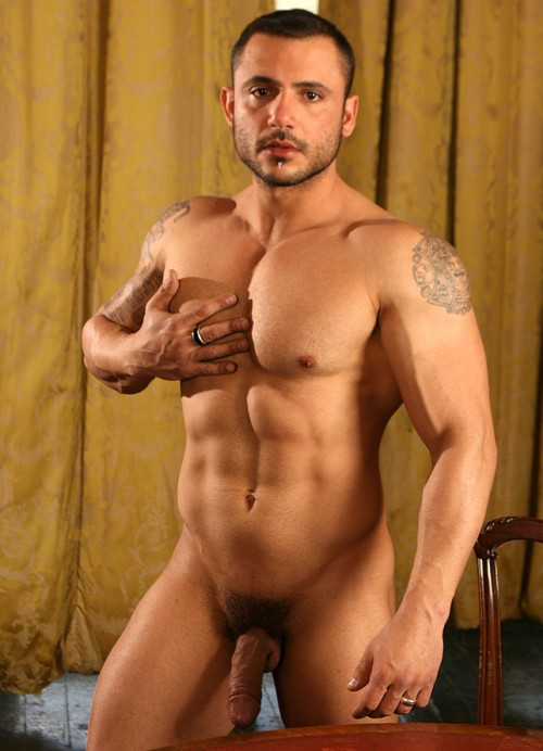 nude black british male