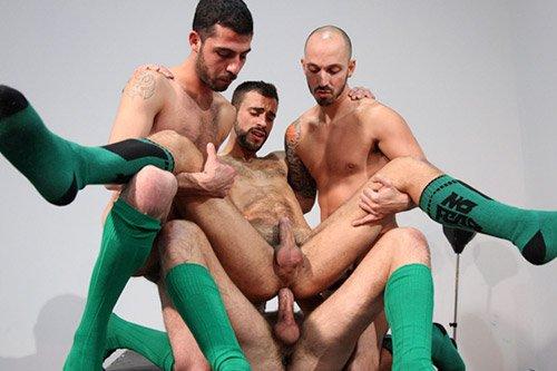 Massage turns gay porn